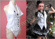Gothic Slight Punk Halter engraved lace Vest FA200W