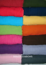 FUNKY COLOURED BABY MUSLINS/SQUARES/COMFORT BLANKET