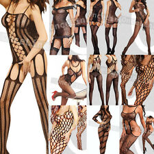 Various Bodystocking Fishnet Babydoll Bodysuit Open Crotch Sexy Lingerie BOXED