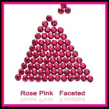 WholeSale Rose Pink  Hotfix Rhinestuds faceted 2,3,4mm