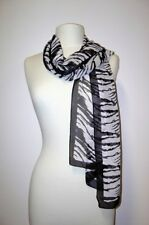 Zebra Print Scarf Black and White, Green, Brown, Grey