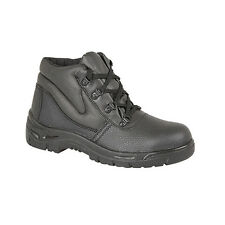 WOMENS STEEL TOE CAP BLACK SAFETY WORK BOOTS SIZE 3-9