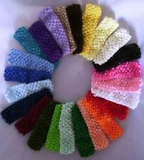 Baby Toddler Girls Crochet Headband any colour x 1 each