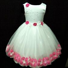 Baby Hot Pink Party Flower Girls Tulle Dress 9 18M 2 3Y