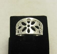 STYLISH STERLING SILVER RING FLOWER SOLID 925 SIZE 4-10