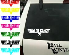 Wiz Khalifa Taylor Gang Decal Car Window Rap Urban Music 420 Love Sticker Vinyl