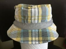 NWT Gymboree Surf Rocks Plaid Bucket Hat Sun Hat NEW Golden Green Plaid