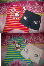 NWT GIRLS HELLO KITTY 2 PC NAUTICAL SUMMER OUTFIT TOP SHORTS SET SIZE 6 6X