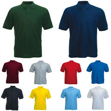 Mens Short Sleeve Essential Pique Polo T Shirt Size XS to 4XL SPORTS CASUAL 109