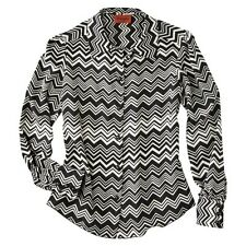 Missoni for Target Womens Black/White Zig Zag Printed Blouse Woven XS NWT