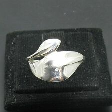 STYLISH STERLING SILVER RING SOLID 925 LEAF NEW SIZE 4 - 10 EMPRESS