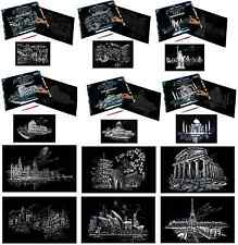 LARGE ENGRAVING ART KIT & SCRAPER TOOL PICK FROM 12 FAMOUS WORLDWIDE LOCATIONS