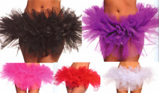 BLACK TUTU BALLET DANCER COSTUME MINI SKIRT PETTICOAT UNDERSKIRT SWAN RAVE