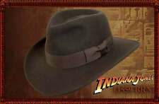 OFFICIAL INDIANA JONES HAT COWBOY CRUSH WOOL FELT BROWN FEDORA COSTUME WESTERN