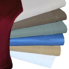 """1000TC 1P Cotton Fitted Sheet Solid Choose All USA Sizes & Color 15""""Deep Pocket"""