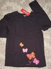 Gymboree ALL ABOUT BUTTONS Midnight Plum Butterfly TOP 9 or 12