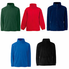 FRUIT OF THE LOOM CHILDRENS FLEECE JACKET COAT - 5 COLOURS - ALL AGES -SCHOOL OK