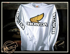 Metro Racing Honda Vintage Motorcycle Men's Long Sleeved T Shirt
