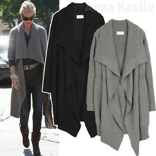 Annakastle New Womens Seed Stitch Drape Front Blanket Wrap Cardigan Size S - M