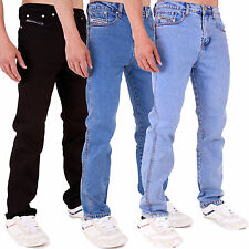 MENS STRETCH SKINNY FIT JEANS IN BLACK STONEWASH LIGHTWASH 28 30 32 34 36 38 40