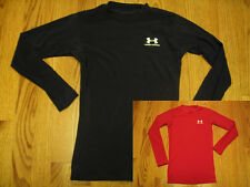 UNDER ARMOUR HeatGear Long Sleeve SHIRT Youth YSM YMD YLG Red Black Silver Green