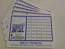 25 SCRATCH-OFF  FOOTBALL FUNDRAISER  CARDS  POST FREE