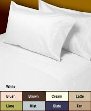 Sale 1200TC 100%Cotton UK Bedding Collection Solid White All Sizes Free Shipping