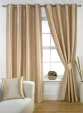 MINK FAUX SILK RAVELLO FULLY LINED EYELET RING TOP CURTAINS