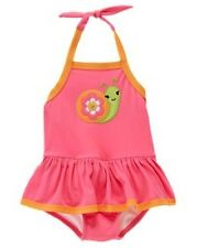 NWT Gymboree Growing Flowers Flower Snail Piece Swimsuit Swimwear NEW 2T 3T