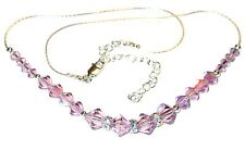 SWAROVSKI Elements CRYSTAL NECKLACE Sterling Silver LIGHT AMETHYST Purple