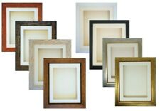 """3D 6x4-12x10"""" Picture Photo Frame for Cast Medal Display 32mm/1.25"""" Deep Box"""
