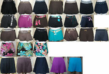 New COCO REEF black/brown/blue/purple swim SKIRTED bikini bottom,M, XL,1X, 2X