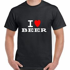 I heart love BEER T shirt BNWT choose colours fun retro novelty stag party