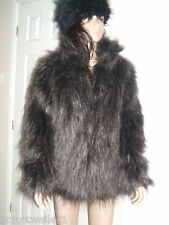 BRAND NEW Primark Size UK 8 10 or 18 Warm Brown Fluffy Yeti Faux Fur Jacket Coat
