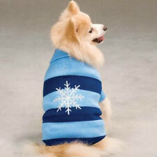 East Side Collection Tonal Snowflake Stripe Dog Sweater PINK BLUE LIMITED SIZES!