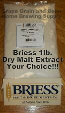1lb. BRIESS Dry Malt Extract, Dry Malt Extract, Malt Extract, DME, YOUR CHOICE!!