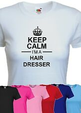 keep calm i'm a hair dresser tshirt womens funny beauty reem t-shirt mothers day