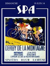 Bicycle Bike Sport France Spa French Vintage Cycle Poster Reproduction FREE S/H