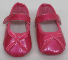 Baby Girls Baby Shoes Pink Red patent leather birth to 12 months new velvet bow