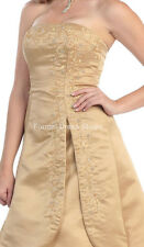 ON SALE ! LONG GOLD BRIDESMAIDS EVENING GOWN SPECIAL OCCASION DRESSES UNDER $100