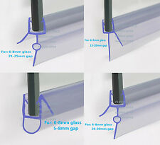 BATH SHOWER SCREEN RUBBER PLASTIC SEAL For 6-8mm CURVED GLASS DOOR ENCLOSURE