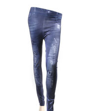 'Sexy Legs' Tattered Blue Jean Fashion Leggings (L0623)
