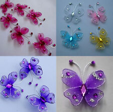 24pc 3.5cm  Nylon Stocking Butterfly Wedding Decorations  Free Shipping