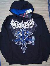 SOUTH POLE YOUTH BLACK LOGO COTTON/POLY ZIP-UP HOODIE SZ 8 to 18 LIST $50
