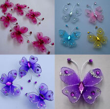 36pc 3.5cm  Nylon Stocking Butterfly Wedding Decorations  Free Shipping