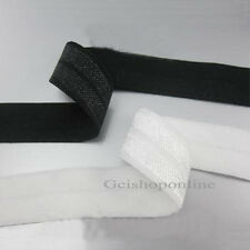 "144Yds 1 ""Black/White Foldover FOE Elastic Trim 25mm Package Sideband m"