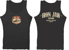 Iron Jaw Shield Hot Rod coupe vintage custom mens vest top