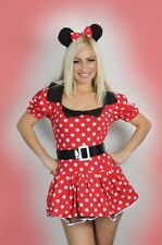 Sexy Womens Halloween ladies Minnie Red Mouse Fancy Dress Costume outfit 8-14