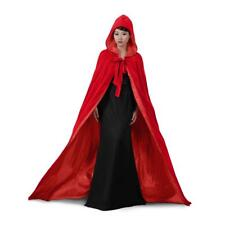 Red Velvet  Hooded Cloak Wedding Cape  Wicca Cloak SCA Free Shipping Halloween