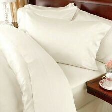 Sale 1000TC 100%Egyptian Cotton UK Bedding Collection Solid Cream All UK Sizes